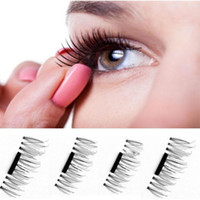 Wholesale Hands Hair Accessories - Magnetic false eyelash 1 Pair  4Pcs 3D Magnetic False Eyelashes Natural Soft Makeup Beauty Tools Accessories