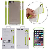 Wholesale Green Protective Covers - TEC21 Drop Protective Impact D3O Soft TPU Tec 21 Case Cover for iphone 8 7 6s 6 plus with Retail Package