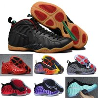 Wholesale Pro Ups - 2017 Air Penny Hardaway Foams Casual Shoes foamposite Sneaker High Quality Foamposite Shoes Pro Tech Green Metallic Gold Metallic Red