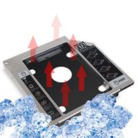 Wholesale Sata Macbook Caddy - Wholesale- Universal Aluminum 9.5MM SATA 3.0 Slim Hard Disk Drive HDD SSD Hard Drive Mounting Bracket Caddy For MacBook Pro For CD DVD-ROM