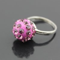Shamballa Crystal Disco Ball Anneaux 13 mm Rhinestone Ball Ring Fashion Women Jewelry Rings Haute qualité Livraison gratuite