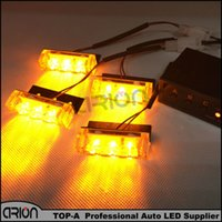 4x3 12 LED Car moto flash Light Strobe Warning EMS Police Truck Firemen Clignotants Grille Lights DC 12V Amber Yellow