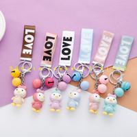 Wholesale Key Chains Korean Wholesale - New LOVE Korean Princess strap car key chain bag pendant key ring bag pendant wholesale free shipping