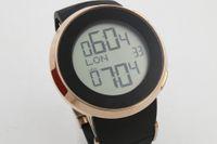 ingrosso orologio digitale quadrante nero-2017 Luxury Brand Digital Mens orologi quadrante nero 45mm Rubber Band Grammary Orologio Montre Homme