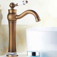 Wholesale Waterfall Style Bathroom Faucets - Wall Mount Faucet Oil-Rubbed Bronze Waterfall Bathtub Faucet One Hole Single Handles Vintage Style Bathroom Vanity Faucet