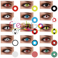 Wholesale Devil Wholesale - Crazy contact lens 120 styles of Halloween Contacts White Out Black Out Twilight Contacts free shipping Ready Stock