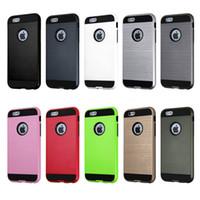 iphone marca híbrida venda por atacado-Para iphone 7 7 mais Case Armor Hybrid Dual Layered Cases Brand Para iphone 5s 6s 6s plus Cases iphone 7 plus