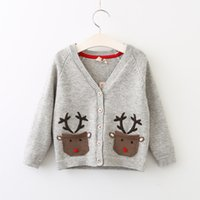 Wholesale Childrens Cardigan Sweaters Wholesale - Baby Boys and Girls Knit Cartoon Sweaters Babies Fashion Embroidery Cardigan 2017 childrens Autumn Clothing