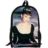 Wholesale School Spirit - Audrey Hepburn backpack Lovely spirit daypack Beautiful star schoolbag Beauty rucksack Sport school bag Outdoor day pack