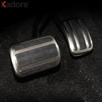 Wholesale Metal Pedals Car - For Peugeot 3008 GT 2016 2017 2018 Metal AT Model Gas Fuel Brake Footrest Foot Rest Pedal Pad Cover Non-Drilling Car Styling