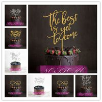 blessing mix - Mixed Style Mr Mrs Blessed Love the Best Day is Yet to Come Wedding Cake Topper Birthday Anniversary Cake Decoration