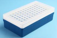 1.5 ml tüp toptan satış-1.5ml Plastik Mikro Santrifüj Tüp Standı Tutucu Kutu 96 Pozisyon Lab Santrifüj Socketstube kutusu.