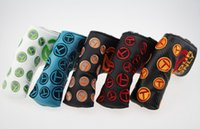 Wholesale Embroidery Only - Exquisite embroidery Golf Putter club headcover Tour only push rod T Putter protective head cover