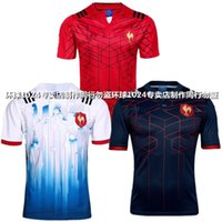 Wholesale Men S Plus Size Suits - 17-18 France rugby Jersey Thai version Jersey training suit plus size 3xl top shirt have AD logo home and guest
