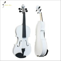 Wholesale Violin Bow Rosin - Wholesale-White Violin 1 4 3 4 4 4 1 2 1 8 Size Available Violin in Full Set (Bow, Rosin and Case) Colorful Violins Many Colors Available