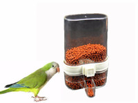 sparrow feeder - 2017 New Bird Feeders Integrated Automatic Feeder Parrot Sparrow Bird Waterer Birdcage Equipment Drinking Bowls for Birds Bird Supplies