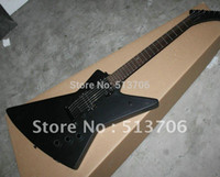 Wholesale Red Black Custom Guitar - Wholesale-New Arrival Black Explorer custom shop Electric Guitar Top Musical instruments Free Shipping