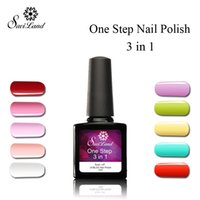 Wholesale One Step Gel Nail Polish - Wholesale-Saviland 1pcs One Step Three In One 10ml UV Gel Soak Off Varnish Vernis Permanent No Primer Gel Nail Polish 3 In 1