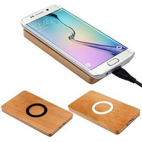 Wholesale Wireless Qi Wood Charger With Brand New And High Quality High Power Quick Charging Security And Reliable For Universal Cell Phone