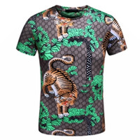 Men painting tigers - 2017 Spring summer suprem brand T shirt tee High street tiger down mountain painting High street fashion clothing with tags M XL
