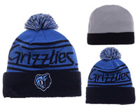 Wholesale Discount Church Hats - free shipping New Grizzlie Beanies Basketball Discount Memphis Skull Caps High Quality Hat Cotton Winter Caps Sports Team Knit Wool Hat