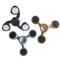 Wholesale Silver Spinning Top - 2017 Plastic Three Colors Spinning Top Simple Operation Finger Toy Triangle Rotation Fidget Spinner Decompression Hand Spinners Black Silver