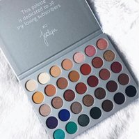 Wholesale Palette Warm Shimmer - New The JaclYn Hill Palette 35 Colors Eyeshadow Shimmer Eye Shadow Palettes Earth Warm Luminous Sets Makeup Palette Eye Shadow Cosmetic