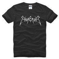 Wholesale Blue White Emperor - Norway Emperor Shirts Men Fashion Top Cotton Black Metal T-shirt Short Sleeve Rock Band Samoth T shirt SL-114