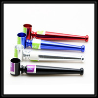 Wholesale Wholesale Metal Pipe Bowls - Wholesale Baseball Metal Pipe Aluminum Alloy Tobacco Smoking Pipe New Design Cigarette Smoke Holder Portable Bowling Pipes