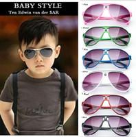 marcas gafas de sol niñas al por mayor-Hot 2017 Niños Gafas de Sol Bebés Niñas Diseñador de la Marca de Moda gafas de Sol Niños Gafas de Sol Playa Juguetes UV400 Gafas de Sol Gafas de Sol D009