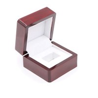 Wholesale Displays For Rings - Championship Ring Jewelry Display Gift Box - Red Retro Style Jewelry Ring Boxes For Display - 6.5*6.5*4.5cm
