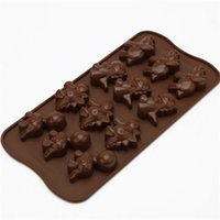 Wholesale Dinosaur Chocolate Moulds - Dinosaurs Shape Silicone Mould Diy Kitchen Baking Tool Chocolate Mold Fondant Cake Decoration Tool Non Stick