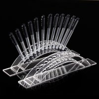 Wholesale High Quality Acrylic Arched Clear View Pen Cosmetic Brush Display Stand Holder