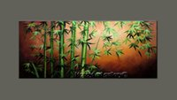 Wholesale Original Handmade Wall Art - 100% Handmade High Quality Wall Art Large Modern Original Abstract Oil Painting Feng Shui Painting on canvas bamboo unique Zen Art Home Deco