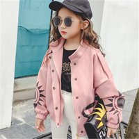 Wholesale New Trends Clothes Girls - The New Autumn Clothing Girl Jacket Suede Jacket Big Child Long Sleeve Short Coat Children's Clothing Trend Clothing Kids Winter Coats