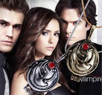 Wholesale Vintage Vampire Diaries Jewelry - The Vampire Diaries necklace Elena Gilbert vintage vervain verbena pendant jewelry for men and women wholesale