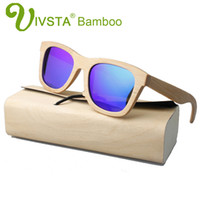 Wholesale Handmade Wooden Frame - IVSTA Wooden Bamboo Sunglasses Wood Men Bambu Handmade Polarized Wholesale Women Fishing Driving Mirror with Case Round Box