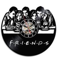 Wholesale friends tv series - Friends Popular TV Series Vinyl Wall Clock Christmas Gift