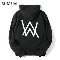 Wholesale Mens Black Hoodie Wholesale - Wholesale- RUMEIAI 2017 Mens Hoodies Sweatshirts Music DJ Comedy Alan Walker Hip Hop Hoodie Black Jacket Men Clothes Fashion Hooded Hombre