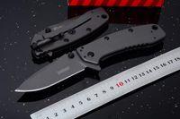 aletas de bolsillo cuchillos al por mayor-Navaja asistida Kershaw Cryo II Cuchilla plegable Navaja gris 1556TI 8Cr13Mov cuchillos de navaja de bolsillo de acero plano nuevo en caja original