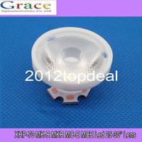 Wholesale Cree Mce - Wholesale- 10pcs Cree XHP70 XHP-70 MK-R MKR MC-E MCE Led Lens 25 TO 30 Degree Optical Grade PMMA Led Lens 29X16MM 10PCS LOT