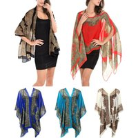 Wholesale Chiffon Shawl Scarf - Women Chiffon Shawl Beachwear Spring New 2017 Fashion Women Silk Scarf Chiffon Scarf Shawls