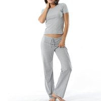 Wholesale Ropa Interior Pants - Women Pijama Set Round Neck Short Sleeve Shirts Ropa Interior Mujer 4XL 5XL 6XL Breathable Modal Lounge Pants Gootuch 2465