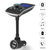 Wholesale Mp3 Player Number - Wholesale- FM transmitter HY68 Bluetooth Handsfree Max 5V 3.1A Car Mp3 Player Dual USB Plug Support TF Card Display Phone Numbers