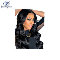 Wholesale Beauty Banking - Grade 7A Virgin Malaysian Hair Wig Black Color Wave Cheap Lace Font Wigs Beauty Natural Color Body Wave Top Full Lace Wigs