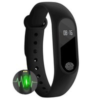 Wholesale Android M2 - Smart Band Wristband M2 Waterproof Heart Rate Bracelet Smartband Bluetooth Fitness Tracker Oled Touchpad