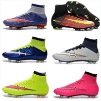 Wholesale Silver Green Laser - 2017 new Mercurial Superfly FG CR7 Shoes Men Soccer Boots Cleats Laser Soccer Shoes Football Shoes Free Shipping