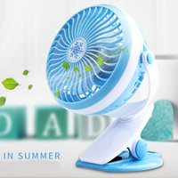 Mini Protable LED Light Fan et Clip Stand Table 360 ​​Degree Rotate Ventilateur Ventilation Ventalation Cool Gadgets Avec USB Rechargerable