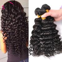 Wholesale Cheap Brazilian Hair Bundles Online - Brazilian Deep Wave Virgin Hair Brazilian Bundles 4pcs lot 100% Curly Virgin Hair Factory Selling Cheap Brazilian Hair Weave Online