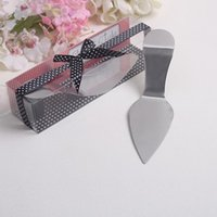 Wholesale European Style Wedding Favors - 50 pcs  lot Wholesale creative design european style High Heel Cake Server wedding gifts party favors For Guest free shipping
